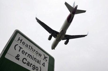 Maior aeroporto de Londres fechou para decolagens