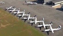 Aeroporto da Pampulha vira estacionamento de aviões