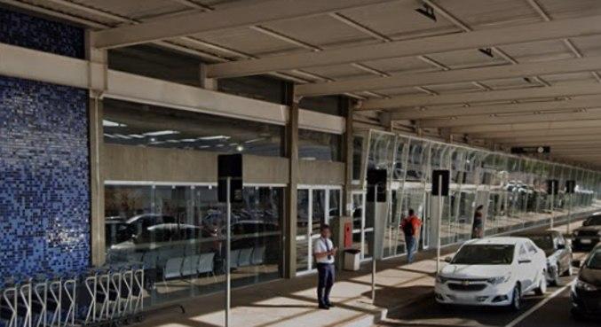 Fachada do aeroporto de São José do Rio Preto, no interior de São Paulo