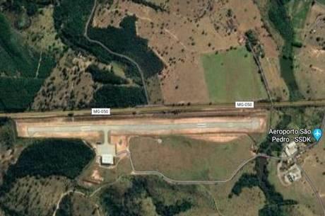 Pista de pouso fica próxima a MG-050, em Itaúna (MG)