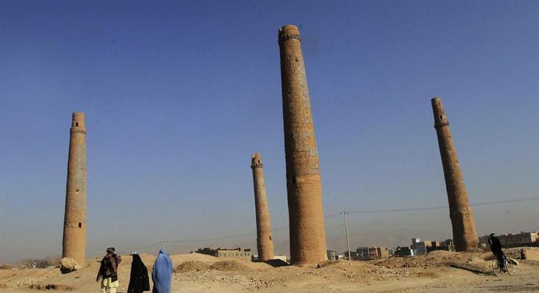 Minaretes da cidade antiga de Herat ainda não estão sob proteção da Unesco