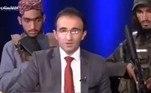 TV afegã grava programa com talibãs armados no estúdioVEJA MAIS