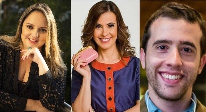 Sophia, Patrícia e Bernardo vão dar dicas sobre o mundo das finanças no R7 Afortunados