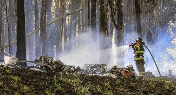 Acidente deixou sete mortos, incluindo piloto, copiloto e mais cinco pessoas
