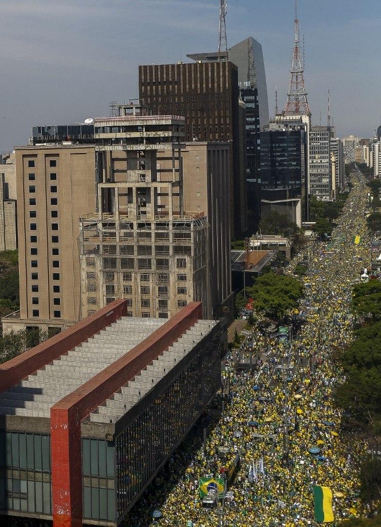 Multidão na Avenida Paulista para acompanhar o discurso de Jair Bolsonaro no 7 de setembro