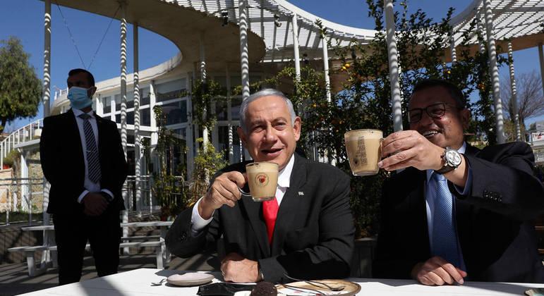 Benjamin Netanyahu, primeiro-ministro da Israel e Moshe Lion, prefeito de Jerusalém