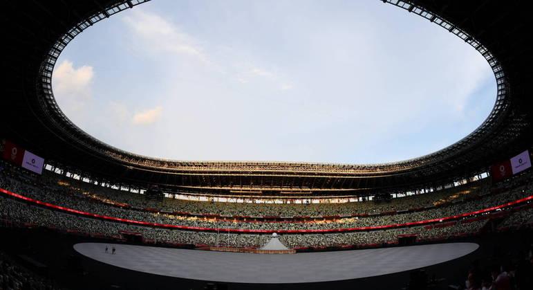 Estádio Olímpico em Tóquio é o palco da abertura, hoje, dos Jogos