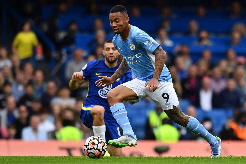 Gabriel Jesus marcou na vitória do City contra o Chelsea