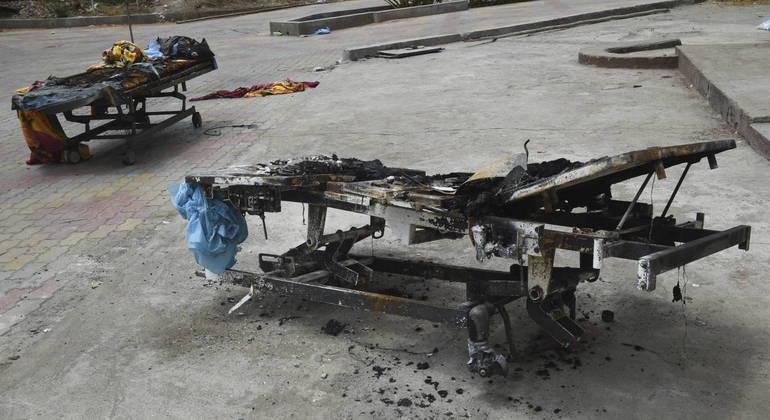 Índia registrou dois incêndios seguidos em hospitais que tratam pacientes com covid-19