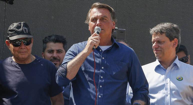 Bolsonaro discursou para apoiadores na Esplanada dos Ministérios