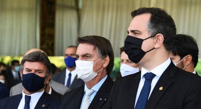 Fux, Bolsonaro e Pacheco em encontro de chefes de poderes sobre a pandemia