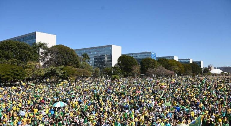 Esplanada dos Ministérios, onde deve ocorrer manifestação pró-Bolsonaro no feriado de 7 de Setembro