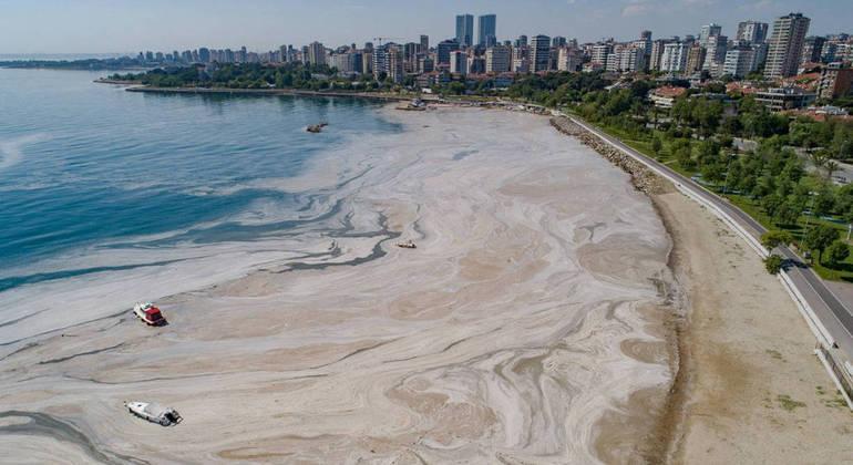 Fenômeno recobriu parte do Mar de Mármara