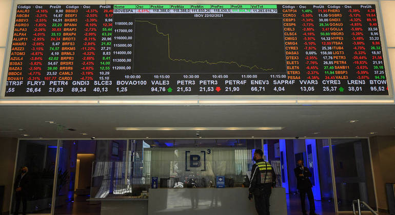A  Bolsa de Valores acumula queda de 1,69% em agosto