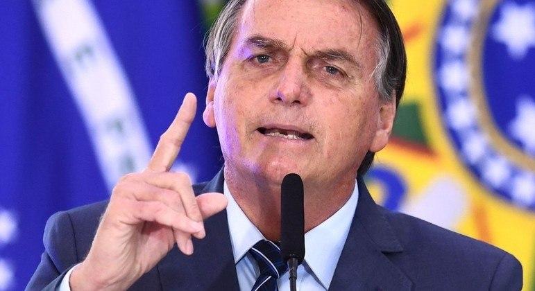 Bolsonaro discursa na abertura da Semana da Comunicação