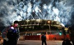 Fireworks light up the sky above the Olympic Stadium during the closing ceremony for the Tokyo 2020 Paralympic Games in Tokyo on September 5, 2021. Kazuhiro NOGI / AFP