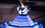The Paralympic cauldron is seen before the closing ceremony for the Tokyo 2020 Paralympic Games at the Olympic Stadium in Tokyo on September 5, 2021. Charly TRIBALLEAU / AFP