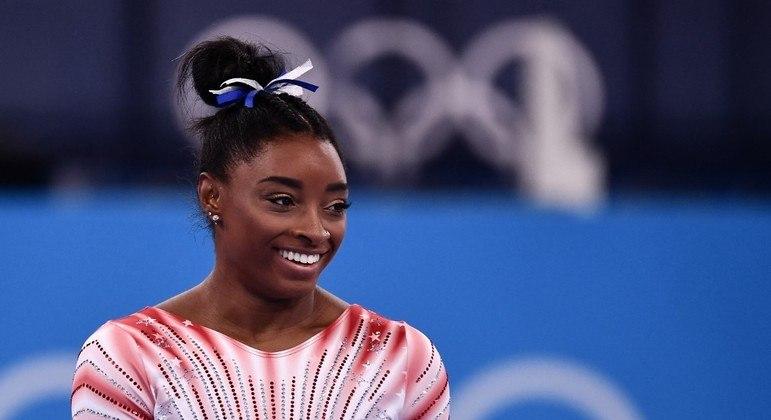 Nos Jogos Olímpicos de Tóquio, Simone Biles conquistou medalha de bronze na trave