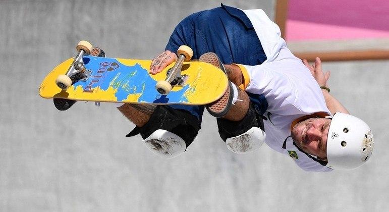 Pedro Barros, medalha de prata no skate na Olimpíada de Tóquio