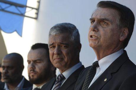Bolsonaro esteve hoje em evento no interior de SP