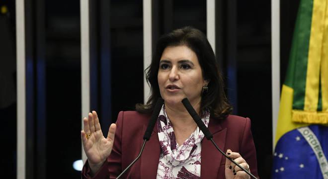 Senadora Simone Tebet (MDB-MS), presidente da CCJ (Comissão de Constituição e Justiça)