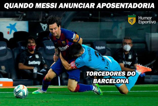 Agarrão em Messi rendeu memes nas redes sociais