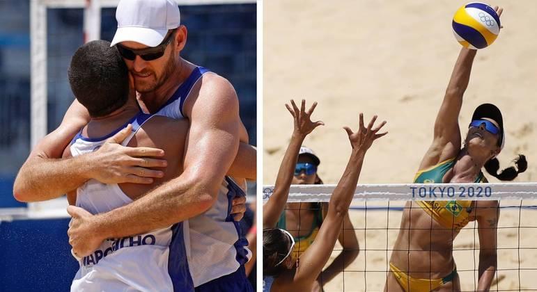 Alison/Álvaro Filho e Ágatha/Duda venceram as duplas da argentina
