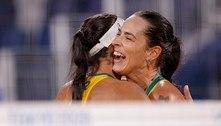 Duplas femininas do Brasil disputam oitavas no vôlei de praia