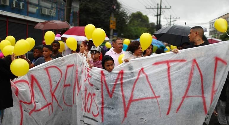 Manifestação após morte da menina Ágatha no Rio de Janeiro marcou o país