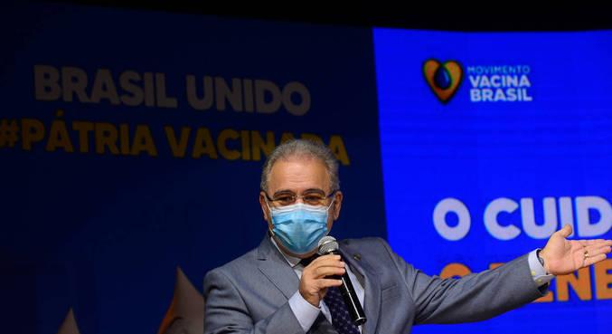 O ministro da Saúde, Marcelo Queiroga, em evento em Brasília