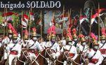 Cerimônia em comemoração ao Dia do Soldado no Quartel-General do Exercito Publicado em 25/08/2021 05:37  Foto: Antonio Cruz/Agência Brasil  Local: Brasília-DF