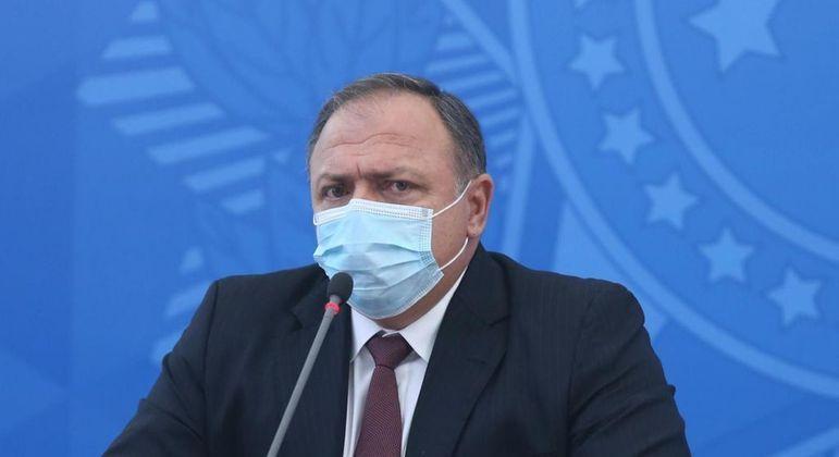 Ministro da Saúde Eduardo Pazzuello em Coletiva do Ministério da Saúde