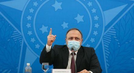 Na imagem, ministro Eduardo Pazuello (Saúde)