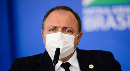 Na imagem, ministro da Saúde, Eduardo Pazuello