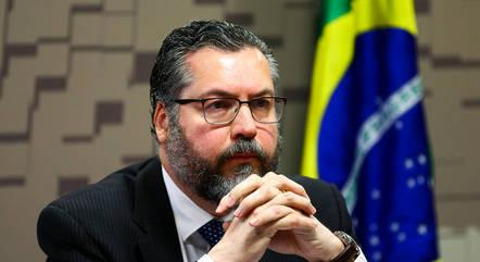 Na imagem, Ernesto Araújo (Relações Exteriores)