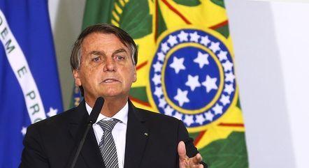Na imagem, presidente Jair Bolsonaro