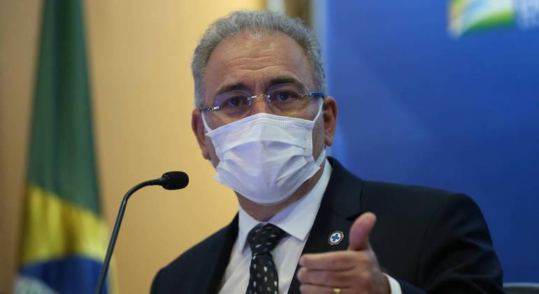 O ministro da Saúde, Marcelo Queiroga, durante evento em Brasília