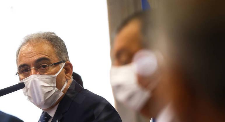 O ministro da Saúde, Marcelo Queiroga, foi ouvido pela segunda vez na CPI em junho