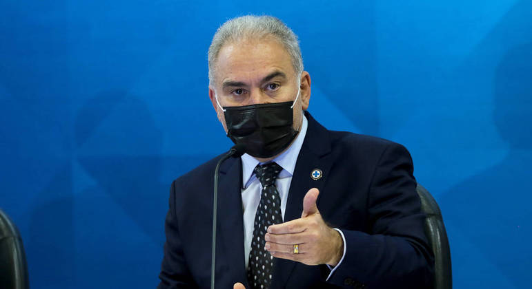 Ministro da Saúde, Marcelo Queiroga testou positivo para a covid-19