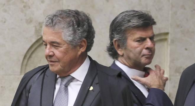 O ministro Marco Aurélio Mello e o presidente do STF, Luiz Fux