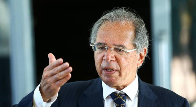 O ministro da Economia, Paulo Guedes, que participou de evento no Rio