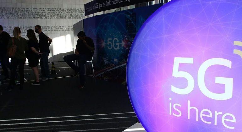 Exposição de tecnologia 5G Digital Day no Salão Negro do Congresso Nacional, em maio