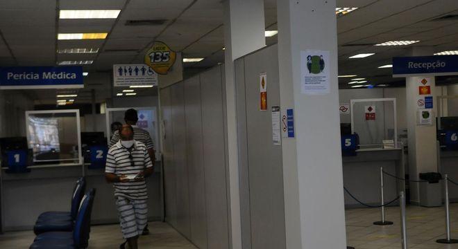 Atendimento em agência  do INSS na cidade de Campinas
