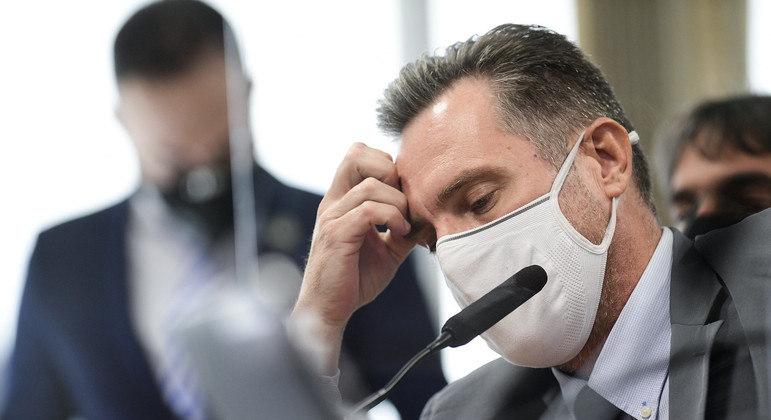 Luiz Paulo Dominguetti Pereira presta depoimento na CPI da Covid