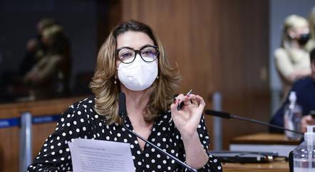 Na imagem, senadora Leila Barros (Cidadania-DF)