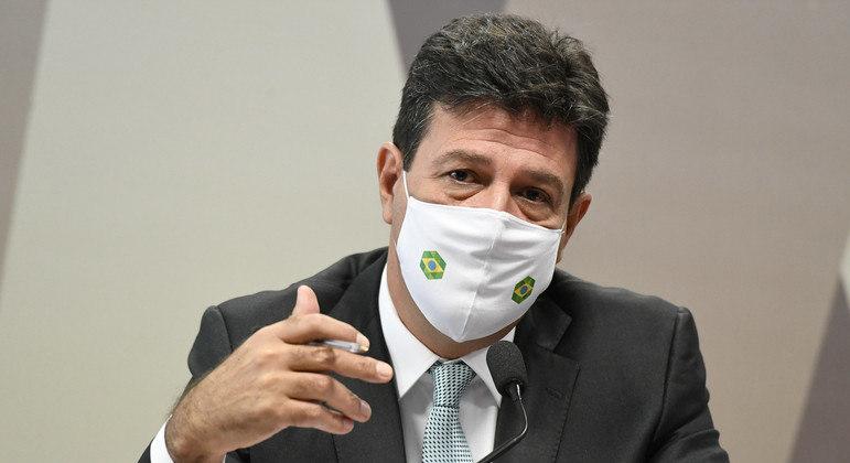 Ex-ministro da Saúde, Luiz Henrique Mandetta, em depoimento à CPI