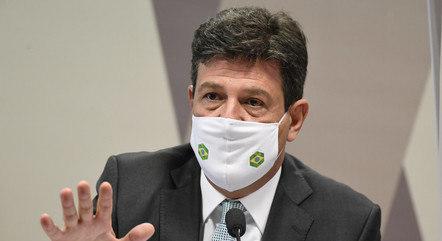 Na imagem, Luiz Mandetta na CPI