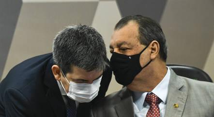Randolfe e Omar Aziz, presidente e vice da CPI