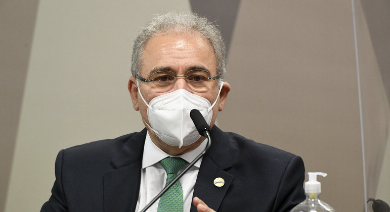 O ministro da Saúde, Marcelo Queiroga, participou de audiência na Câmara dos Deputados