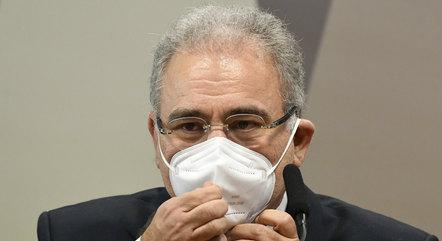 Na imagem, ministro da Saúde, Marcelo Queiroga